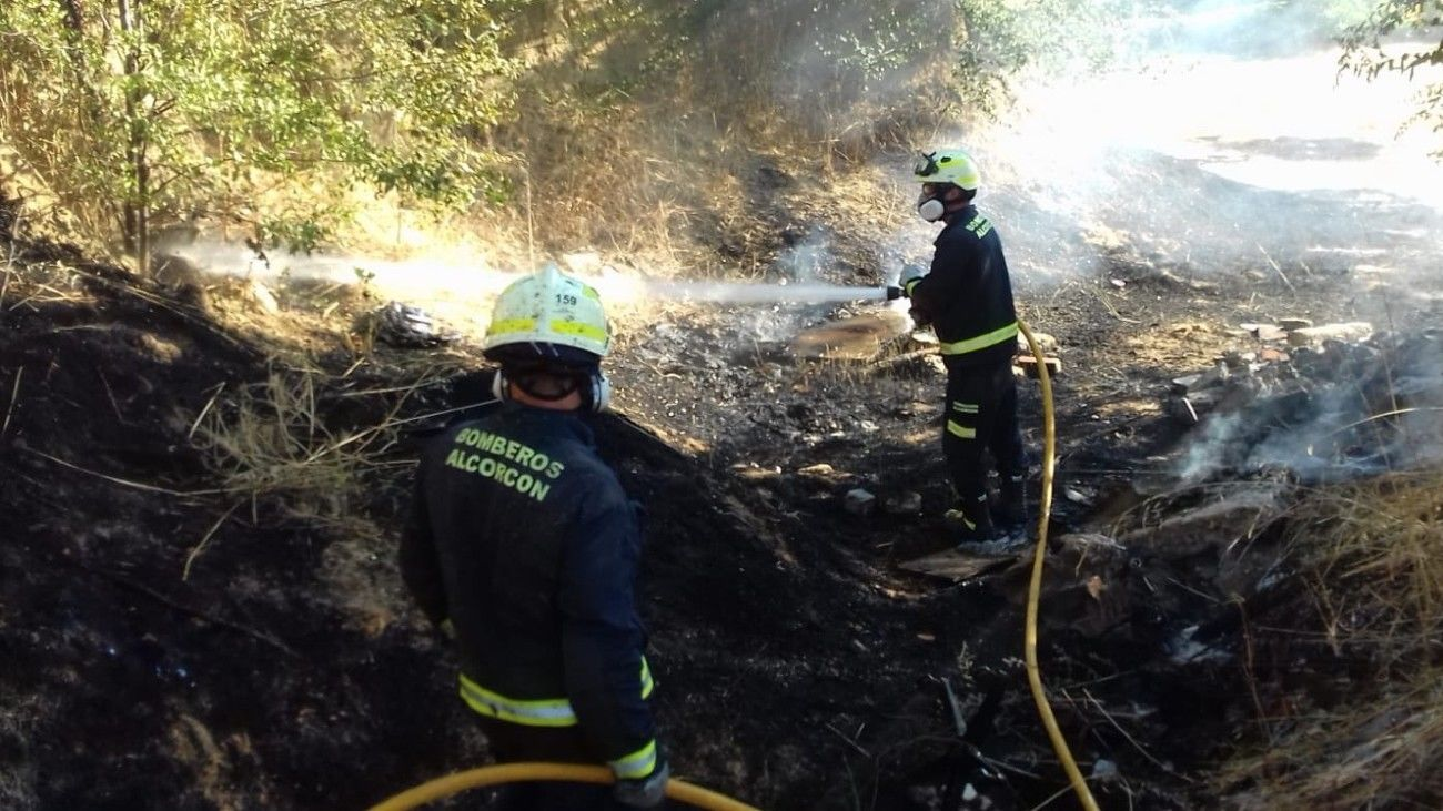 Incendio en Alcorcón