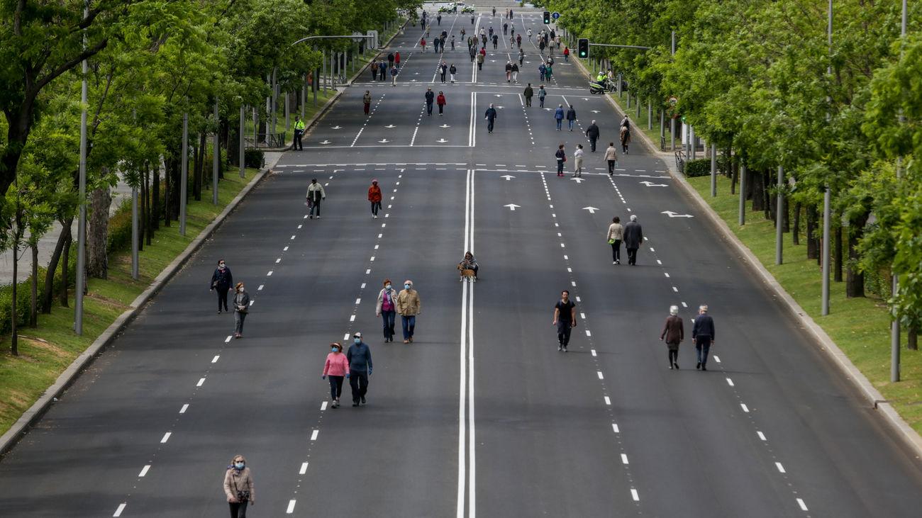 Paseo de Eduardo Dato peatonalizado, Madrid