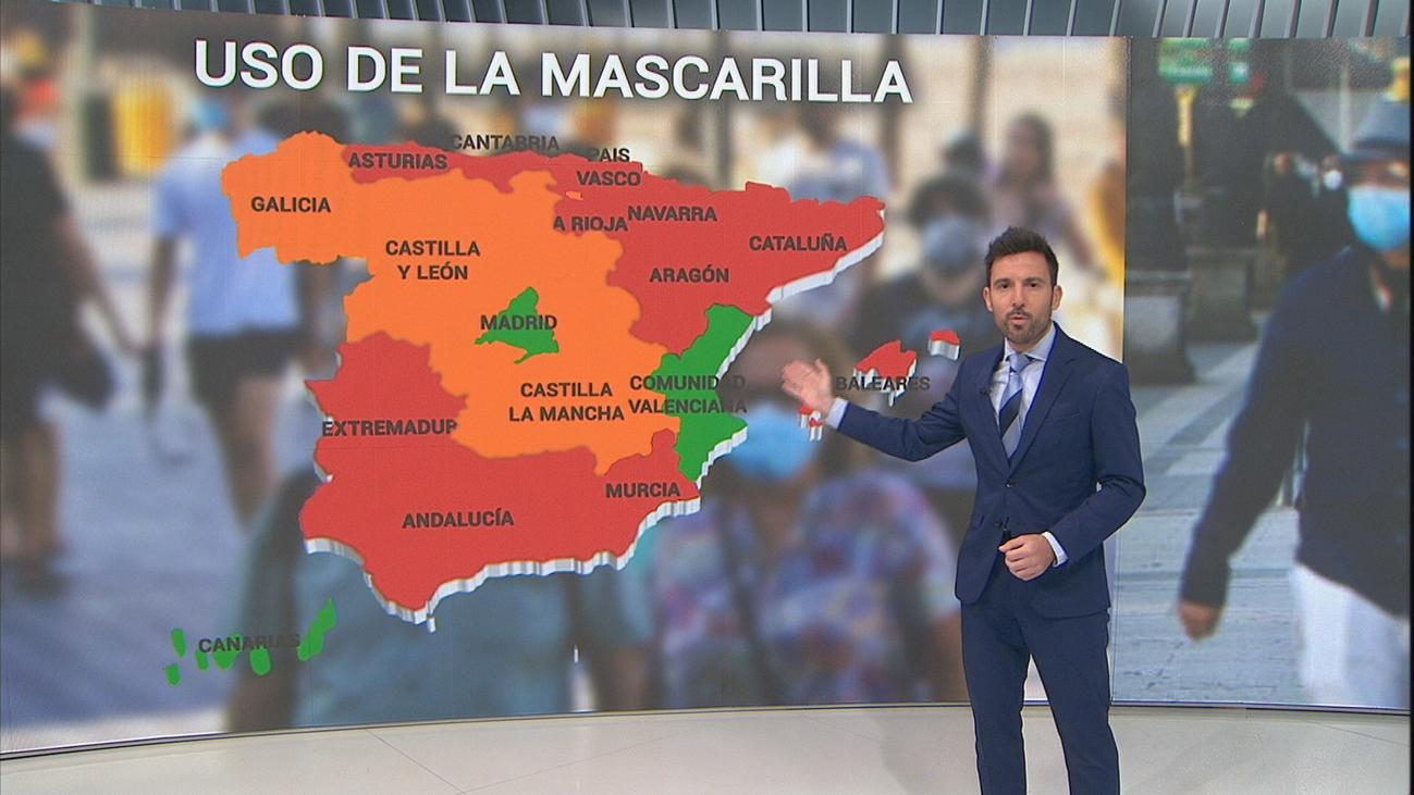 Solo tres regiones, entre ellas Madrid, no imponen el uso obligatorio de mascarillas