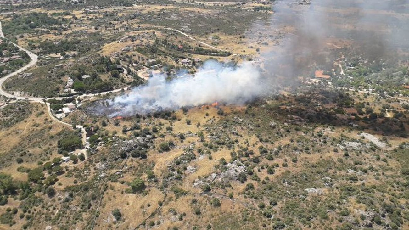 Incendio en El Berrueco