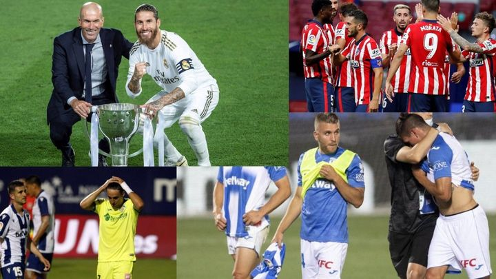 Real Madrid campeón, el Atleti en el podio, Getafe sin Europa y el Leganés, a Segunda