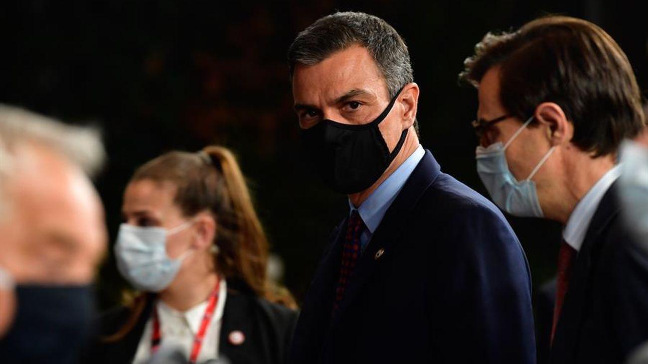 Pedro Sánchez en la cumbre de Bruselas