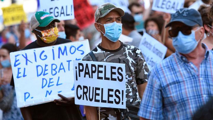 Concentración en Madrid para exigir la regularización de inmigrantes