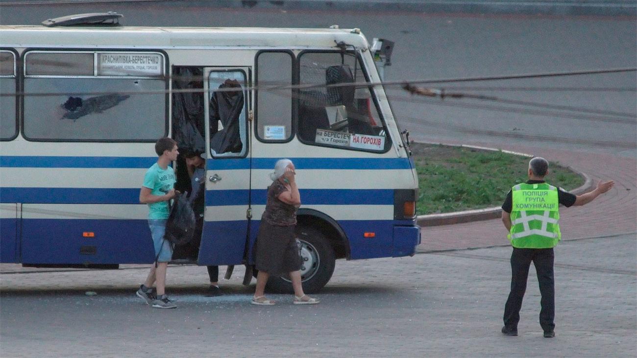 Liberan a los secuestrados en un autobús en Ucrania, tras 12 horas de cautiverio