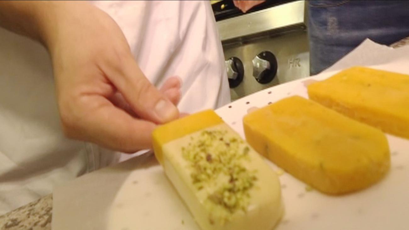 Cómo hacer polos caseros de pistacho