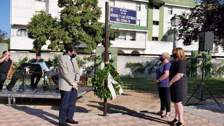 Alcorcón inaugura el espacio dedicado a los 'héroes y víctimas' del covid-19