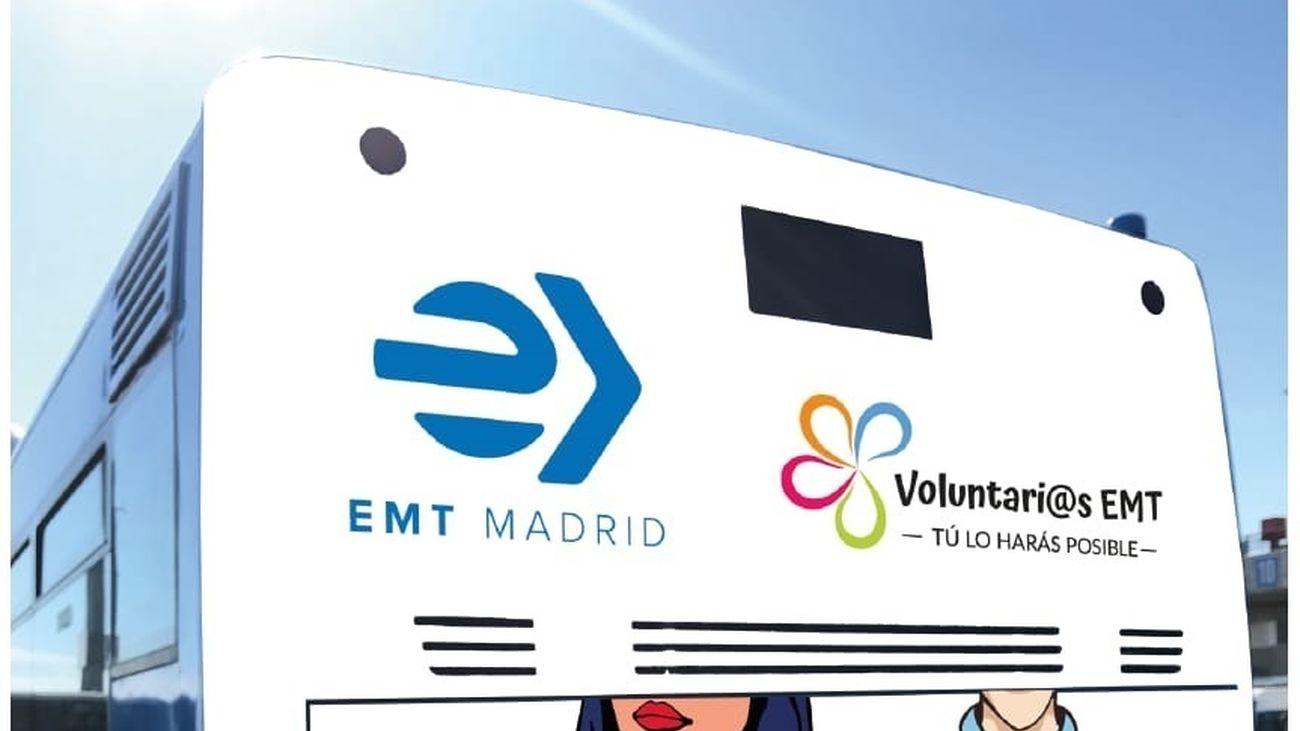 Autobús solidario  de voluntarios de EMT
