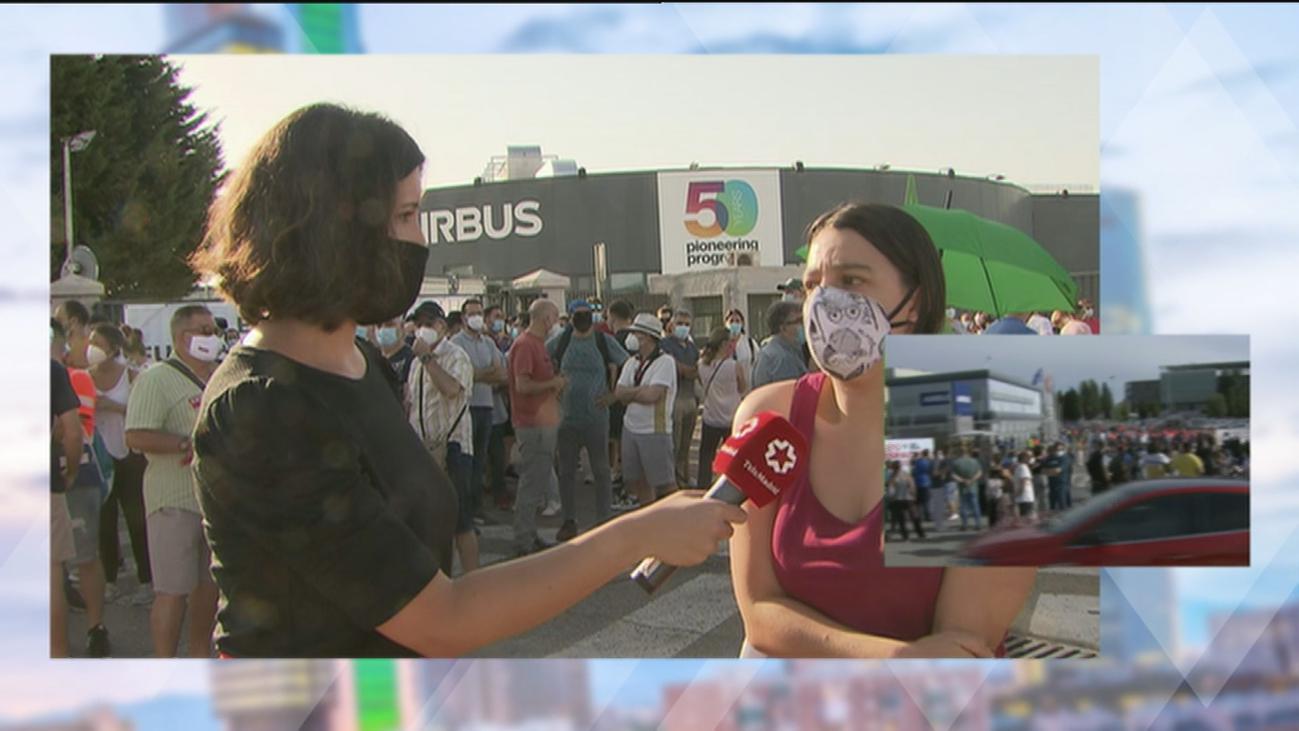 Los trabajadores de Airbus de Getafe se echan a la calle contra los despidos