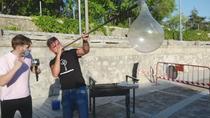 Exhibición de soplador de vidrio en Bustarviejo