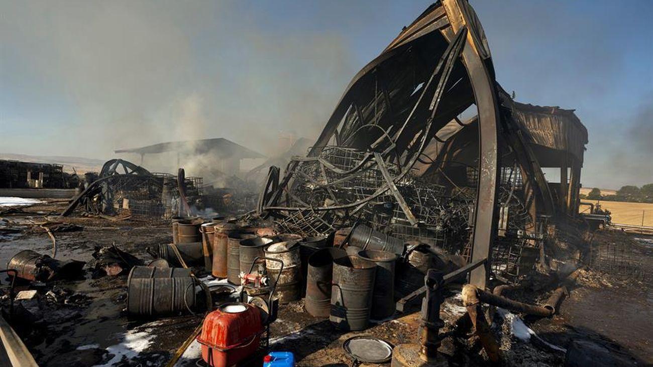 Planta calcinada en el incendio de Ávila