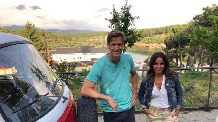 Carmen Alcayde y Óscar Martínez disfrutando de unas magníficas vistas