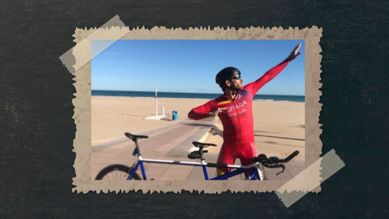 El mayor reto de Jota, el triatleta invidente que se ha convertido en un ejemplo de superación