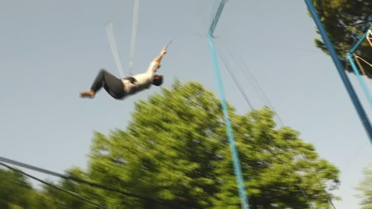Primera escuela de trapecio en Somosaguas