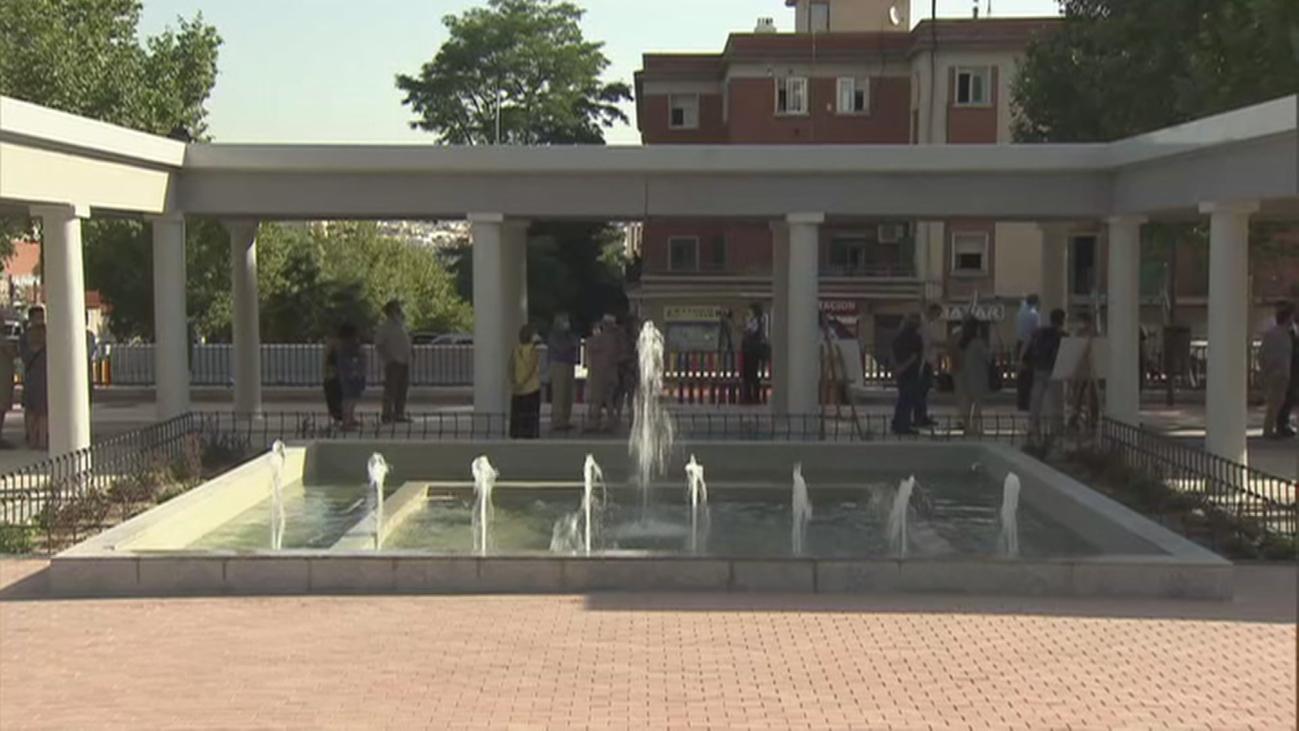 Usera estrena la remodelada plaza de Francisco Ruano