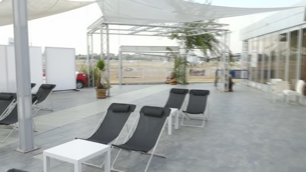 Cine de verano en el aeródromo de Cuatro Vientos
