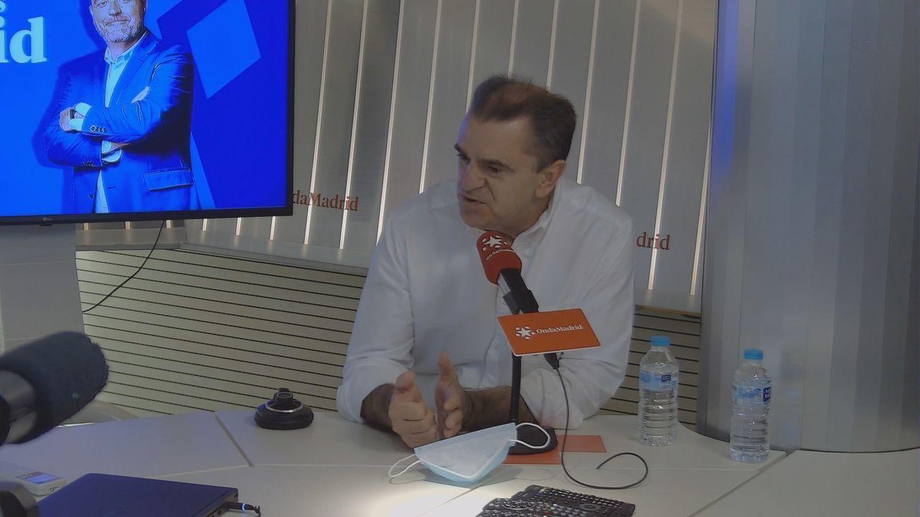 José Manuel Franco durante su entrevista en Onda Madrid