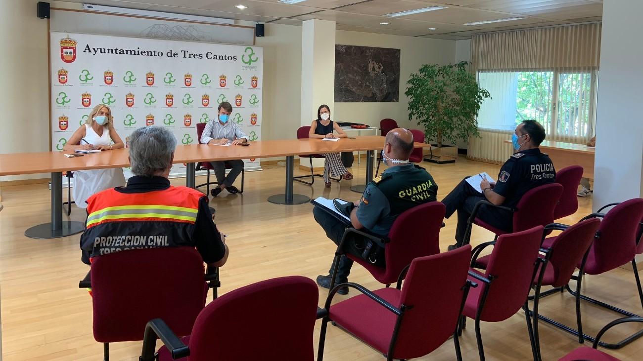 Reunión en el Ayuntamiento de Tres Cantos