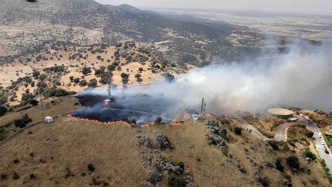 Incendio en San Rafael (Segovia)