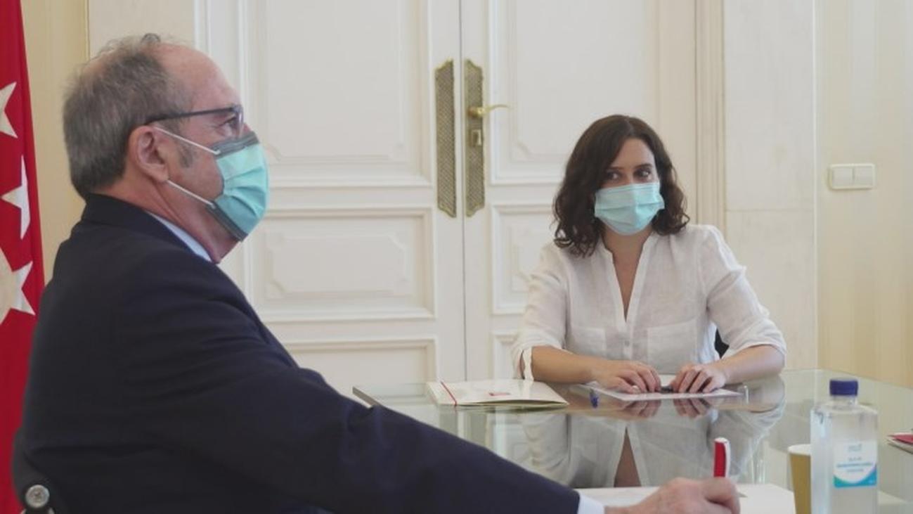 Ayuso y Gabilondo coinciden en reforzar Sanidad y Educación con el fondo Covid no reembolsable