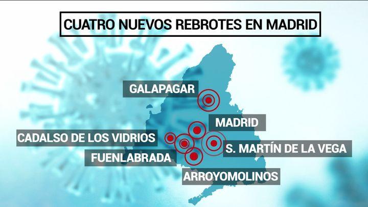 Madrid notifica 4 nuevos brotes con 23 positivos en ámbitos laboral y familiar