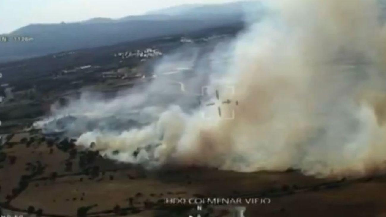 Incendio de pastos en Colmenar Viejo