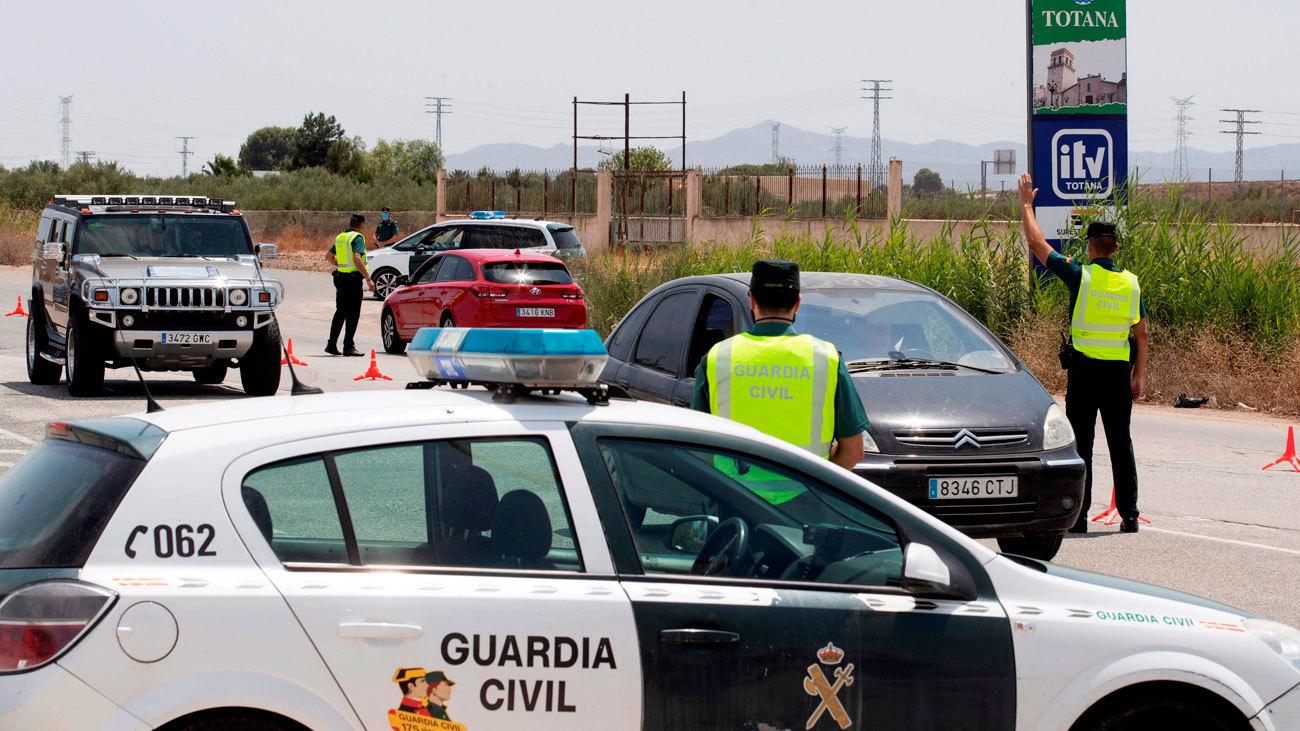 Control de la Guardia Civil en Murcia