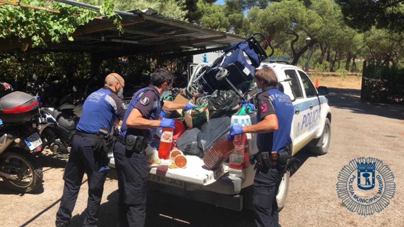 Incaitación de comida de la Policía Municipal de Madrid