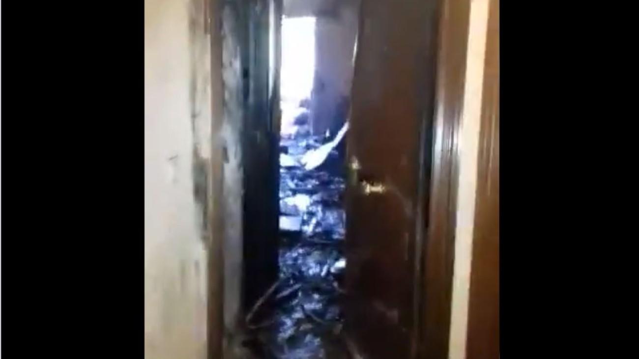 Incendio en  una vivienda en Alcorcón