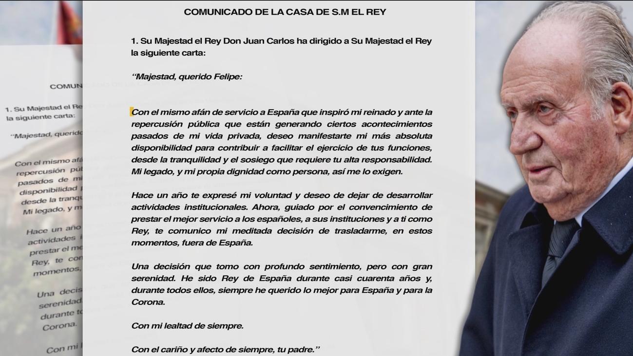 Los acontecimientos que han llevado a Juan Carlos I a abandonar España
