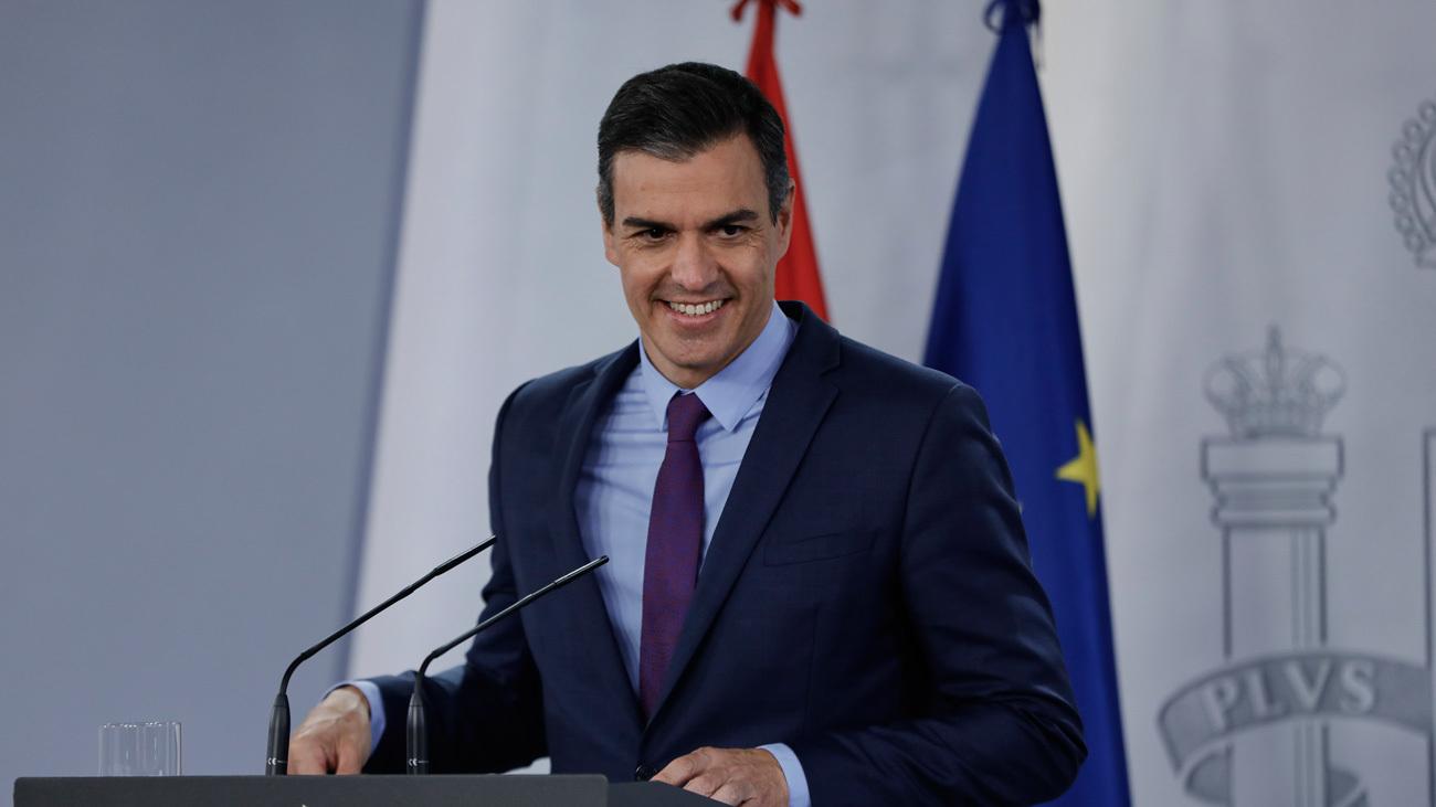 Pedro Sánchez durante la rueda de prensa posterior al Consejo de Ministros, haciendo balance del año