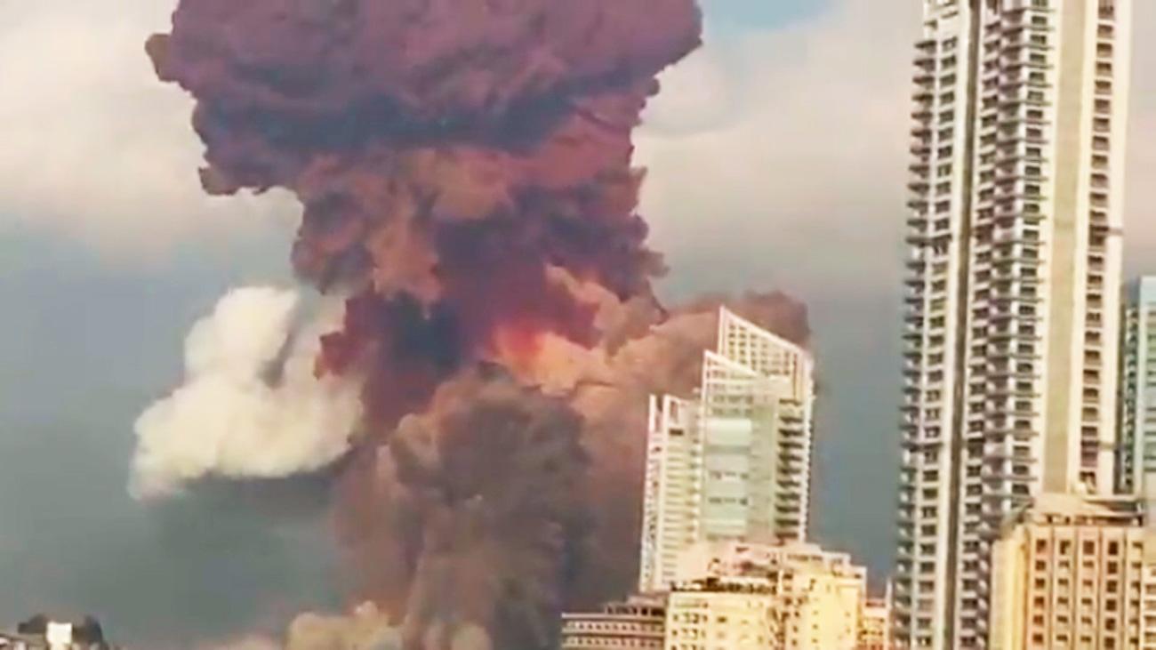 Gigantesca explosión en Beirut con inumerables muertos y heridos