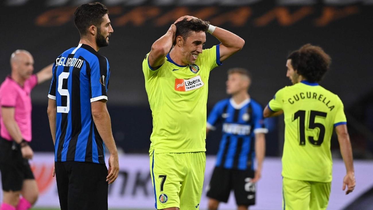 Jaime Mata ante el Inter Milán