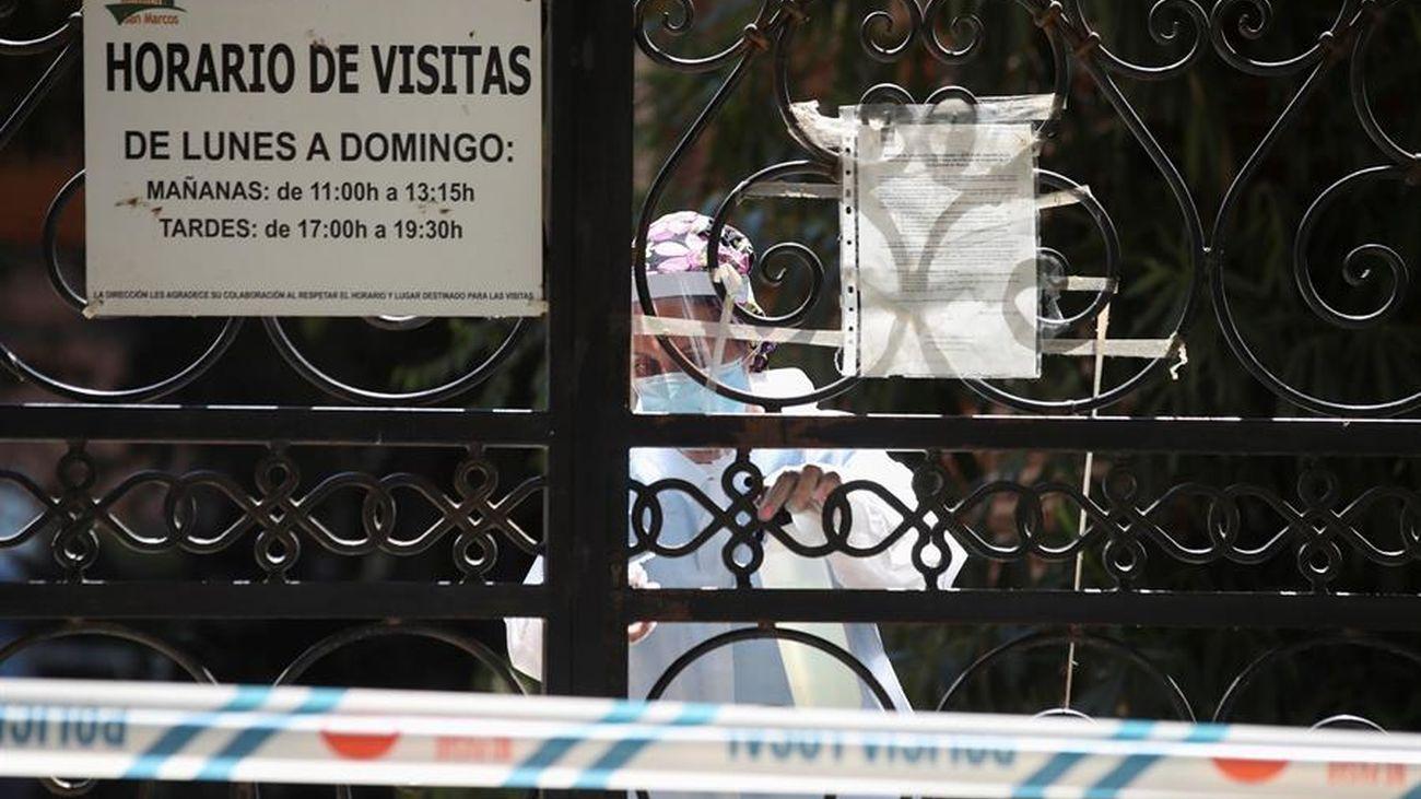 Entrada a la residencia de San Martín de la Vega con un rebrote importante de coronavirus
