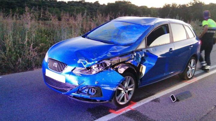 Un conductor ebrio atropella mortalmente a un ciclista y hiere a otros cuatro en Barcelona