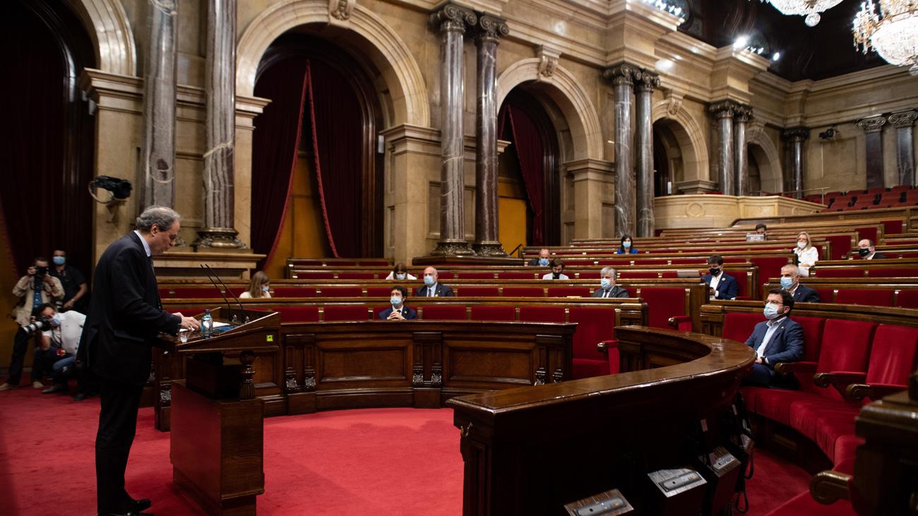 """El Parlament declara que Cataluña es """"republicana"""" y """"no reconoce"""" al rey"""
