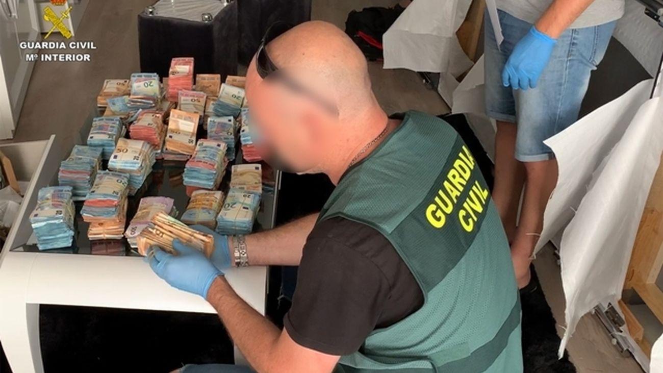 """Dinero incautado en la operación """"Ornitorrinco"""""""