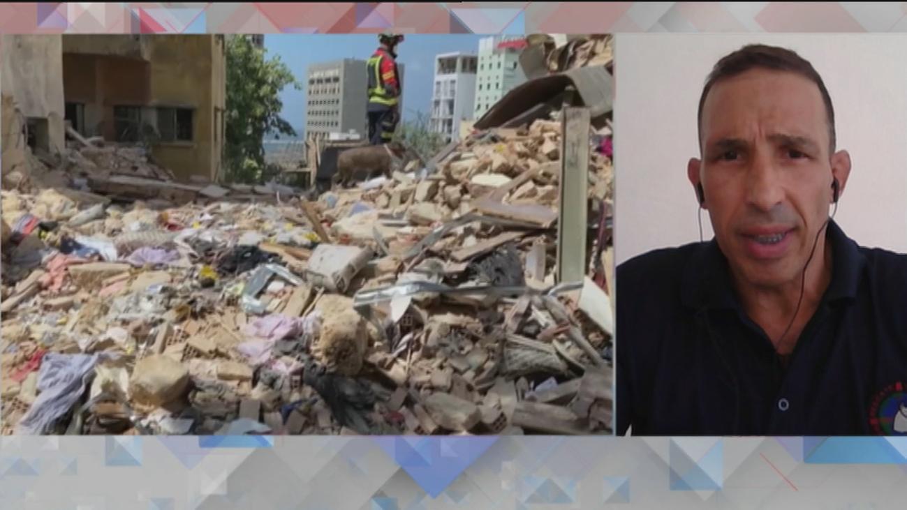 Bomberos españoles muestran en Telemadrid imágenes de la catástrofe de Beirut