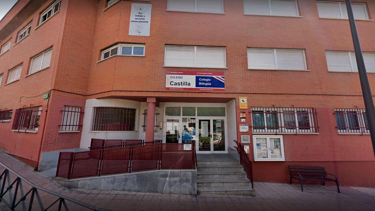 Fachada del CEIP Castilla, en Alcobendas