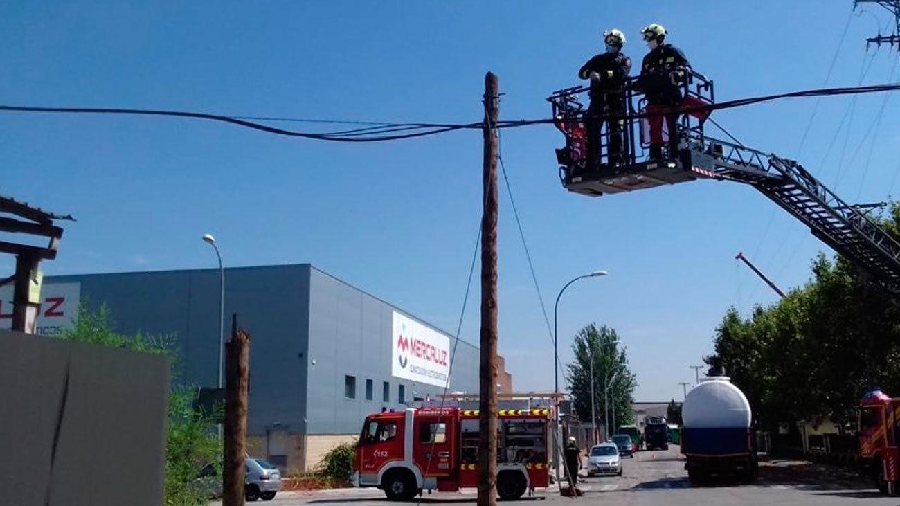Intervención de los bomberos de Alcorcón