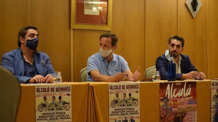 Ponce, Castella y Perera, cartel del regreso de los toros a Alcalá de Henares