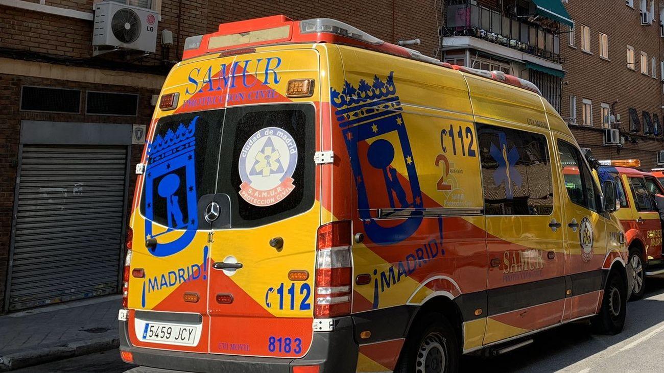 Ambulancia del SAMUR en Villaverde