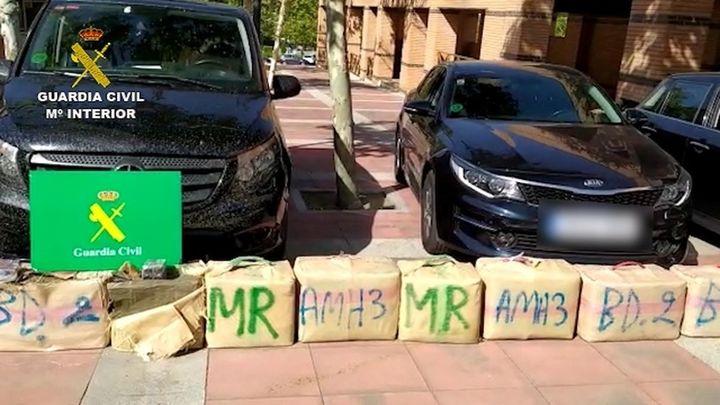 Desmantelada en Madrid una organización dedicada al tráfico de hachís que utilizaba vehículos VTC