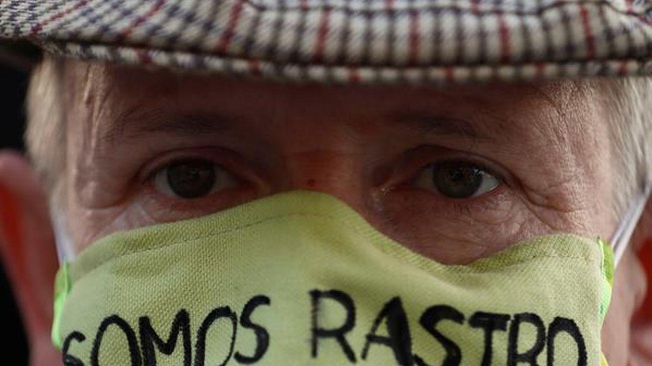 Manifestación en El Rastro
