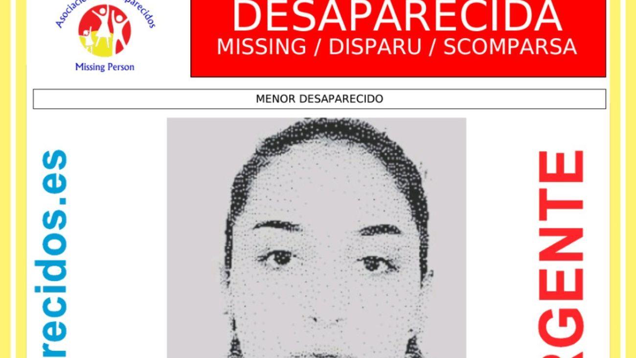 La Policía pide la colaboración ciudadana para localizar  a una joven de 15 años  desaparecida en Tres Cantos