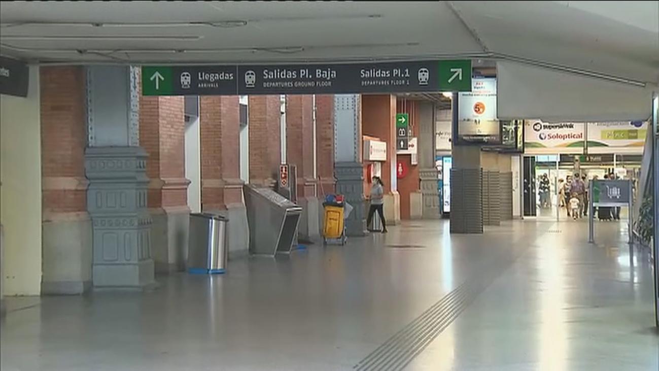 Atocha, Mendéz Álvaro o Barajas, sin viajeros en plena operación retorno