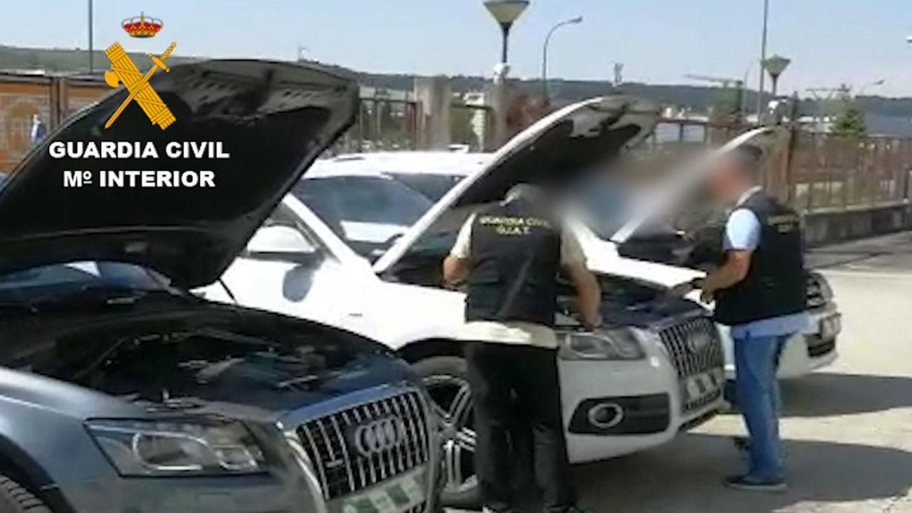 Algunos de los vehículos recuperados por la Guardia Civil