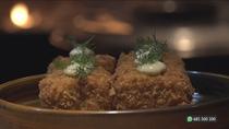 Croquetas de asado argentino en un restaurante del Paseo de la Chopera
