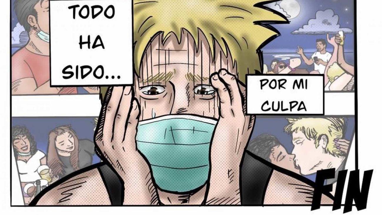 Un cómic para alertar a los jóvenes sobre los riesgos del coronavirus