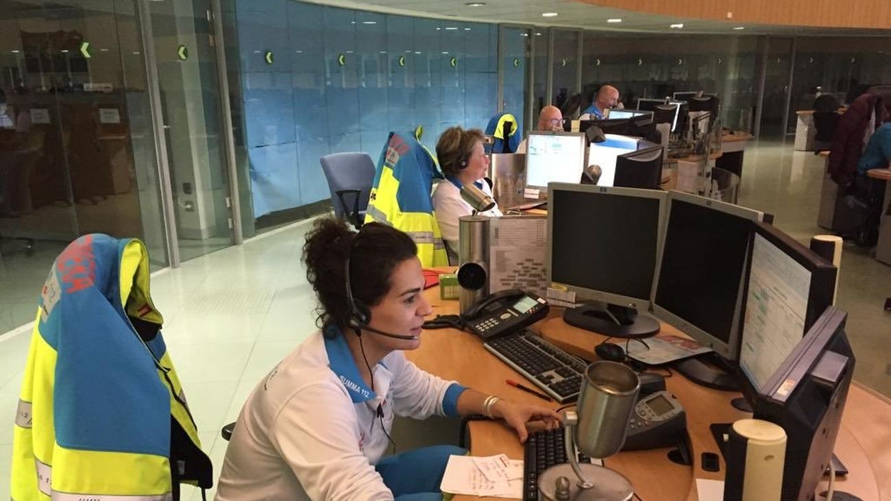 Trabajadores del servicio de Emergencias 112 de la Comunidad de Madrid