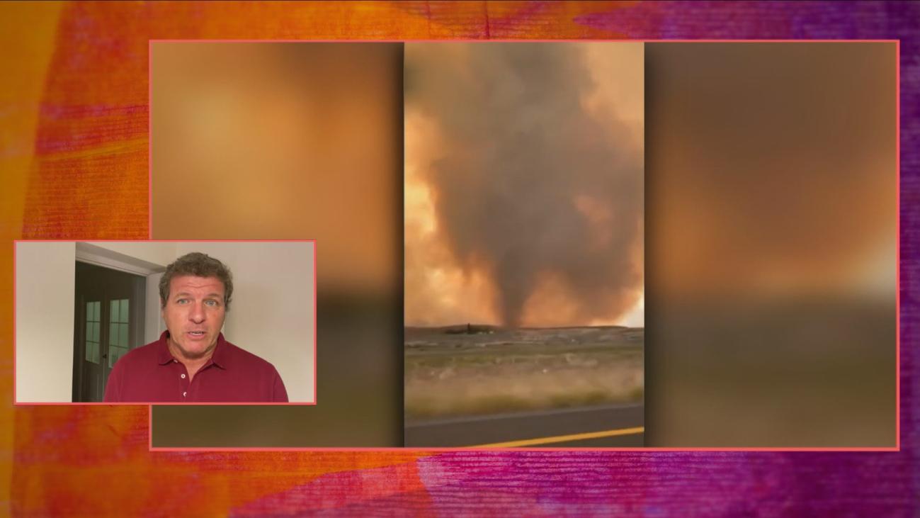 Las imágenes del devastador tornado de fuego en California